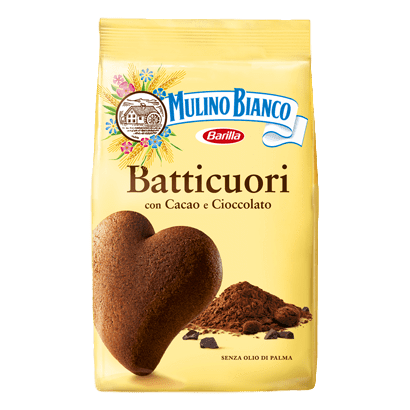 Batticuore Boundle Chocolate Cookies Heart Shape (3 PACKS) by Mulino Bianco - (12.3 oz x 3) Tot. 36.9 oz