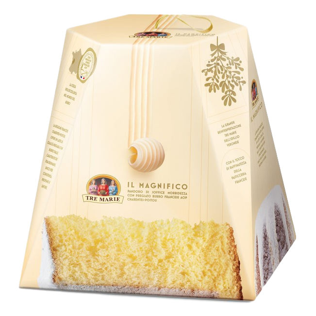 "Panettone Cake ""Il Milanese"" Hand Wrapped w/ Sultanas & Candied Citrus Fruits by Tre Marie - 1.65 lb"