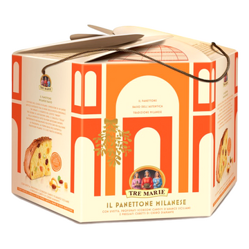 Giant Panettone Cake with Sultanas & Candied Citrus Fruits by Tre Marie - 3.3 lb