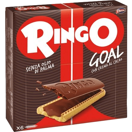 Pavesi Cookies Ringo Goal Cookies with Chocolate by Pavesi - (6 bars x 0.99 oz) - Tot. 5.92 oz.