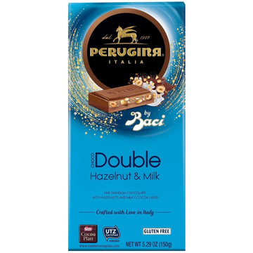 Hazelnut & Milk Double Chocolate Bar by Perugina - 5.29 oz. - Italian Food Online Store
