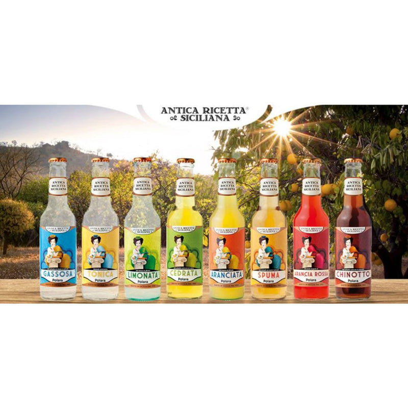 Sparkling Lemonade Soft Drink from Sicily by Polara - 6 bottles x 9.29 fl oz