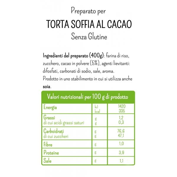 Gluten Free Mix for Soft Chocolate Cake by Molino Rossetto - 14.1 oz