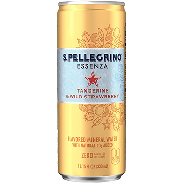 San Pellegrino Beverage Sanpellegrino Essenza Flavored Sparkling Water Tangerine & Wild Strawberry Can - 11.15 fl. oz.