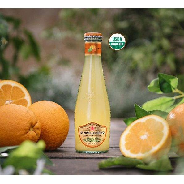 Organic Sparkling Orange Beverage by Sanpellegrino - 4 bottles x 6.75 fl oz