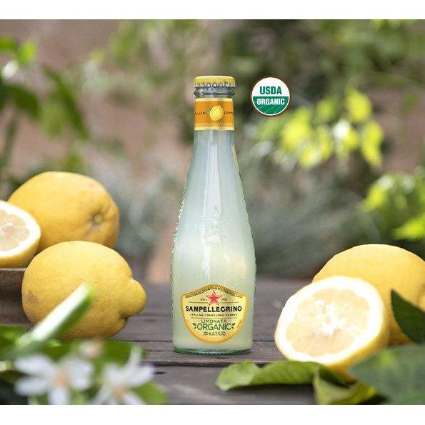 Organic Sparkling Lemon Beverage by Sanpellegrino - 4 bottles x 6.75 fl oz
