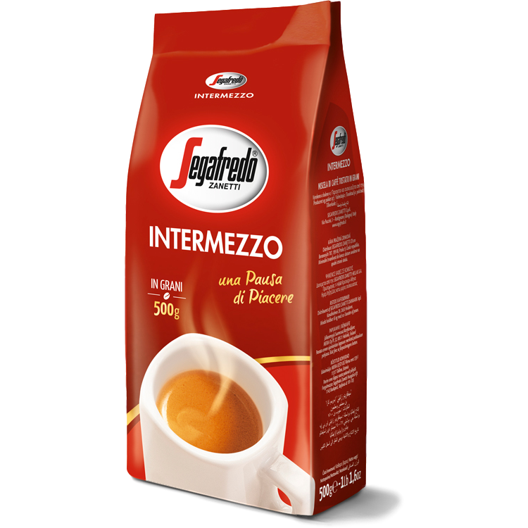 "Segrafedo Coffee Whole Beans Coffee ""Intermezzo"" by Segafredo - 17.6 oz."