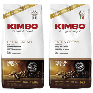 Espresso Extra Cream Whole Beans by Kimbo - 2 packs x 2.2 lb each