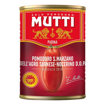 San Marzano PDO Whole Peeled Tomatoes (400 grams) by Mutti - 14 oz
