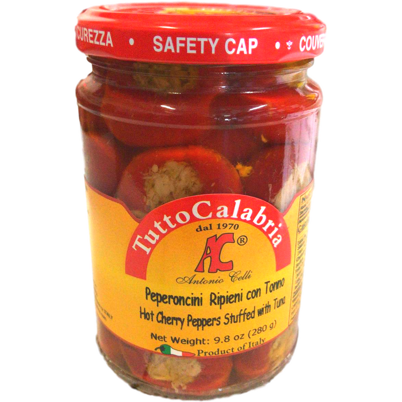 Cherry Peppers Stuffed with Tuna by Tutto Calabria - 9.8 oz.