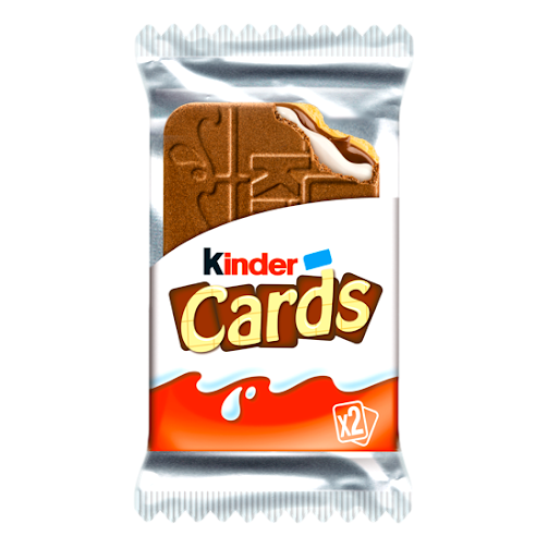 Kinder Cards Crunchy Biscuits Cocoa Wafer (2 pieces) by Ferrero - 0.90 oz