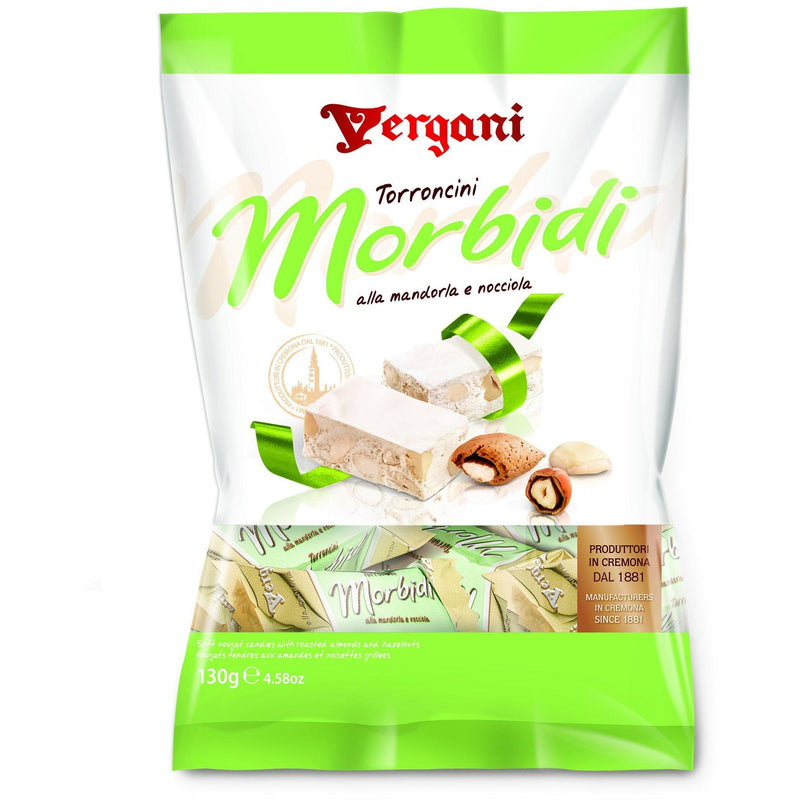 Crunchy mini-nougat with Almonds & Hazelnut by Vergani - 4.58 oz. - Italian Food Online Store