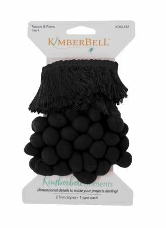 Kimberbell Tassel & Pom Pom Trim in Black