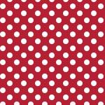 Kimberbell basic dot white on red