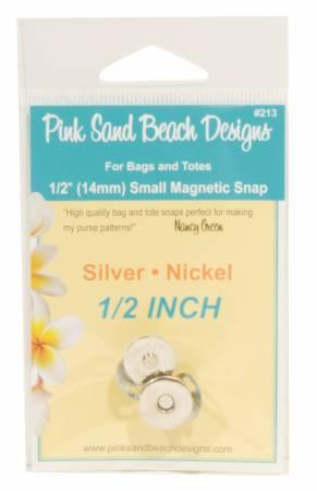 Pink Sand Beach Small Magnetic Snaps Silver/Nickel