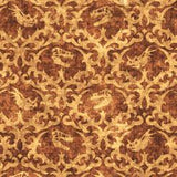Lost World Dino Damask Brown
