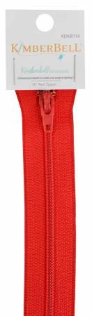 "Kimberbell 16"" zipper Red"