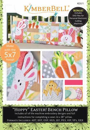 Kimberbell Hoppy Easter Bench Pillow