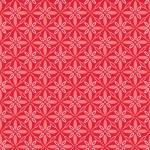 Kimberbell Make Yourself At Home Red Floral Geometric Print