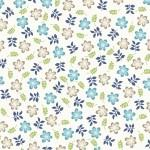 Kimberbell Make Yourself At HomeFloral Blue on white