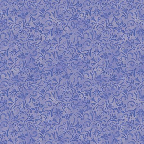 White Woodland Painterly Swirl Periwinkle