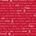 We Wisk You A Merry Christmas Words on Red