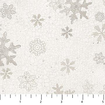North Ridge White Snowflakes Cotton Flannel