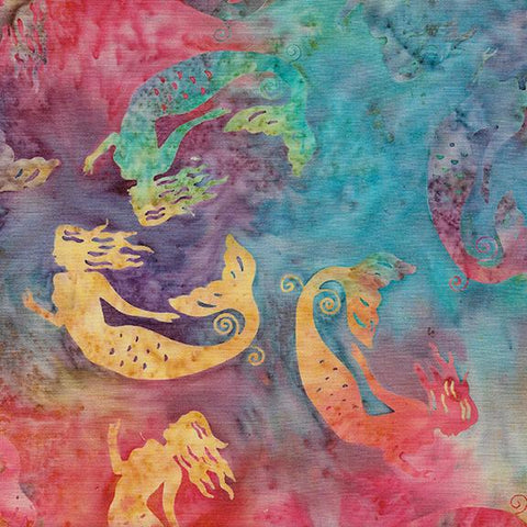 Island Batik Tossed Mermaid-Rainbow