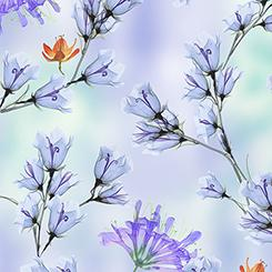 Belle floral branches periwinkle