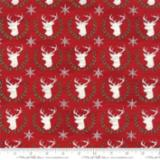 Hearthside Holiday white deer on red