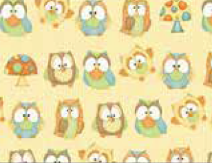 Hoot Hoot Hooray Owls on yellow