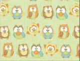 Hoot Hoot Hooray green with owls