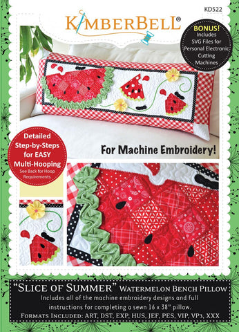 "Kimberbell ""Slice of Summer"" Watermelon Bench Pillow"