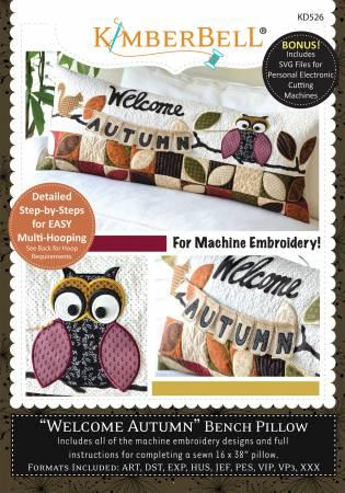 "Kimberbell ""welcome Autumn"" Bench Pillow"