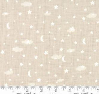 Lullaby moon & Star Print/clouds