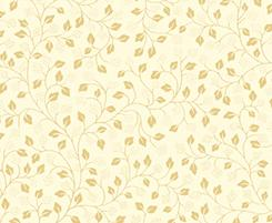 Metal leaf vine cream gold