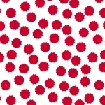 Modern Mixers Dots Red