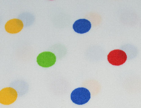 Multi Colored Dots on White