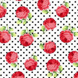 Rosy Dots Roses & Black dots on white