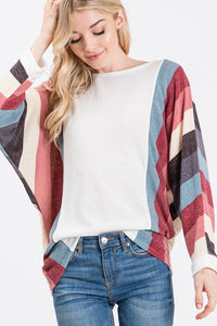 Cool Winter Stripe Long Sleeve Top