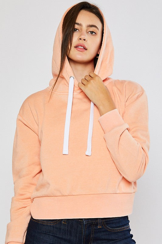 Mineral wash pullover hoodie