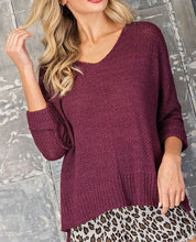 Ribbon knit sweater