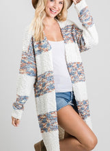 Soft Winter Blues Cardigan