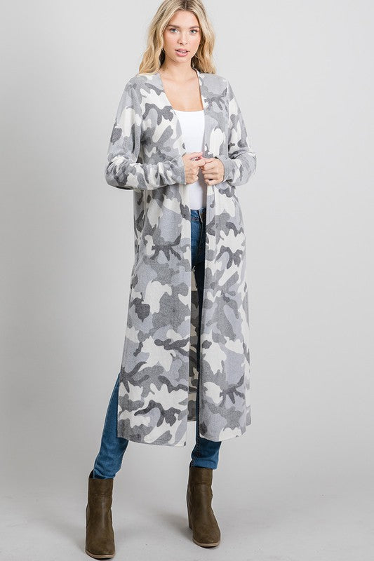 Long Snow camo duster