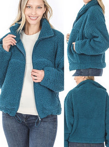 Cropped Sherpa jacket