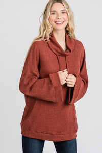 Loose cowl neck pullover