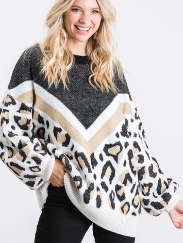 Oversized Cheetah cozy sweater
