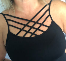 Black Criss Cross long tank