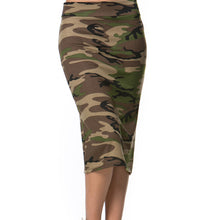 Stretch Pencil skirt Camo Print