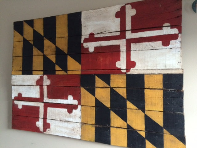 Reclaimed Wood Maryland Flag